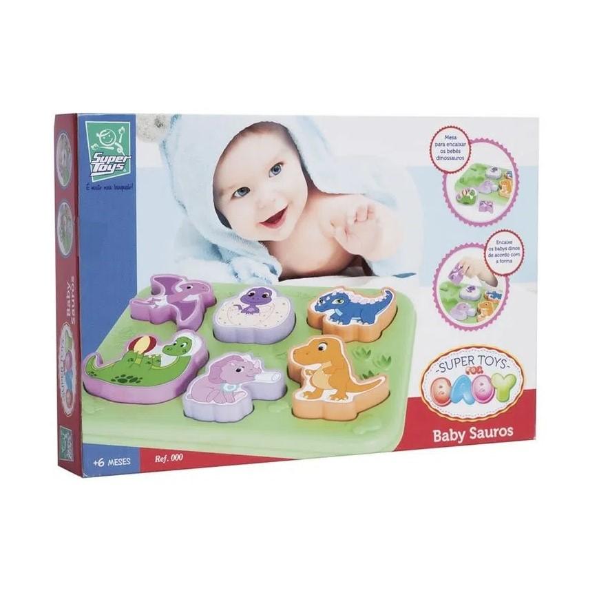 Peças de encaixar Baby Sauros Super Toys