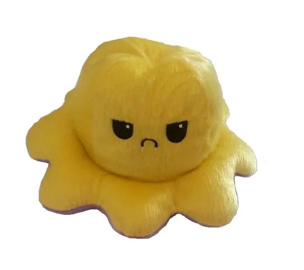 Pelúcia polvo humor Médio Amarelo e roxo claro Mega fofo