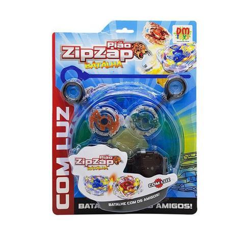 Pião Zip Zap batalha com luz DM Toys
