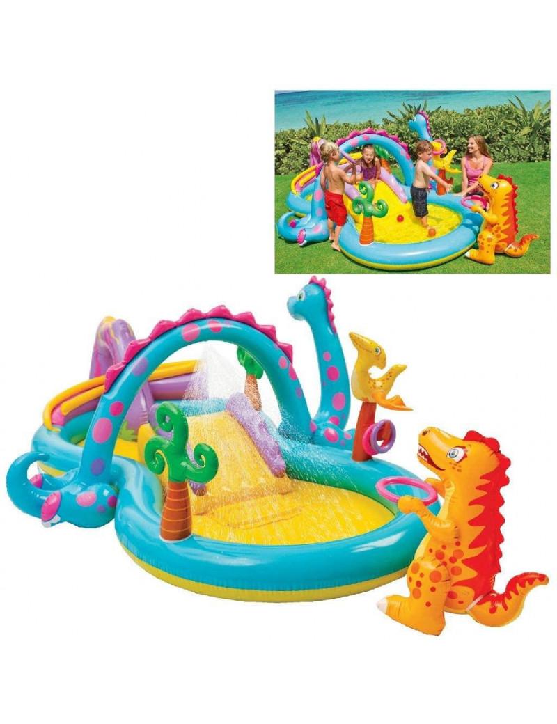 Piscina Playground Mundo Encantado dos Dinossauros - Intex
