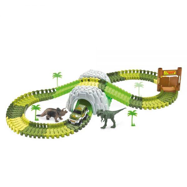 Pista Dinossauro Track com Túnel e Acessórios 109 Peças DMT6130