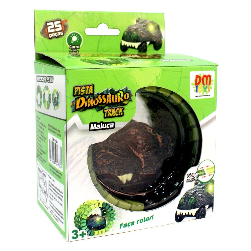 Pista Dinossauro Track Maluca 25 Peças DM Toys DMT6133