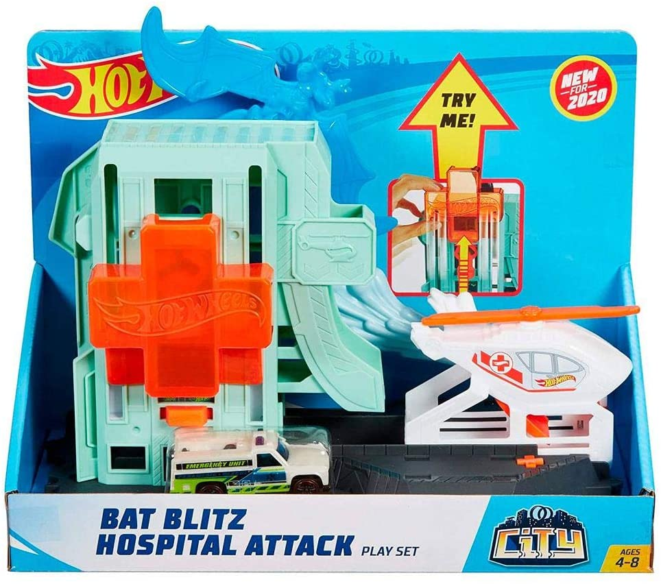 Pista Hot Wheels Ataque de Morcegos no Hospital Mattel