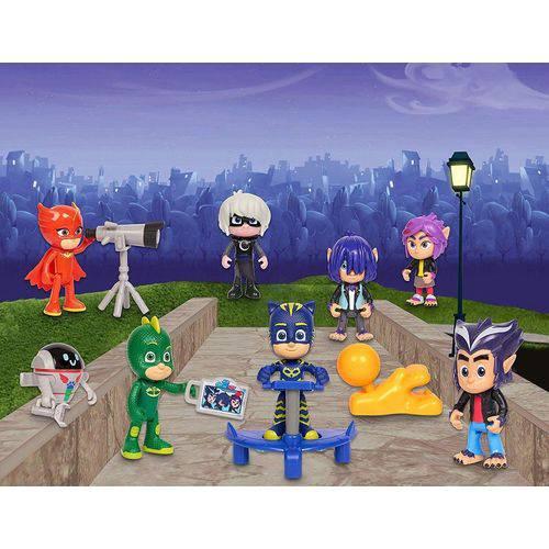 PJ Masks Superkit De Bonecos Com 14 Peças- DTC - 4663