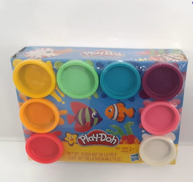 Play Doh Kit com 8 Cores do Arco-íris Atóxicas - Hasbro E5044