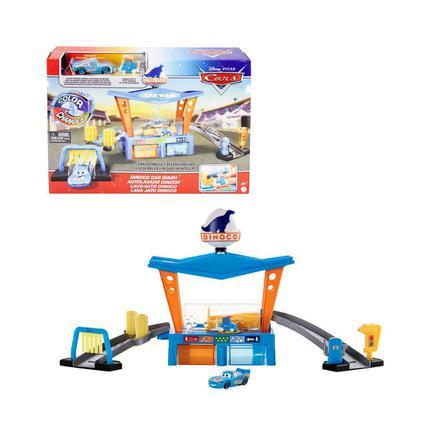 Playset Dinoco Lava Rápido Muda de Cor Carros Pixar  Mattel