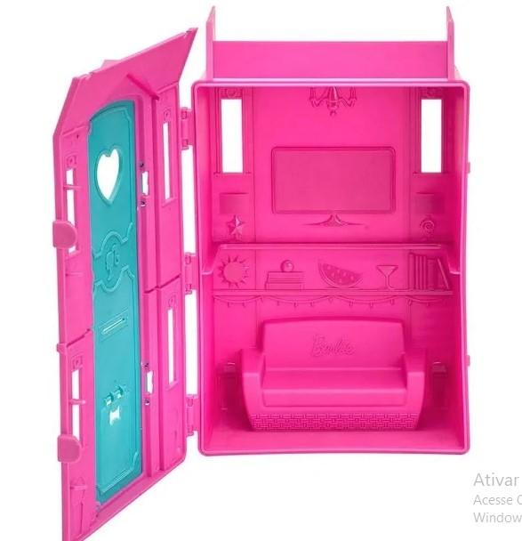 Playset e Boneca Barbie Surf Studio da Barbie com Vestido Lilás Fun
