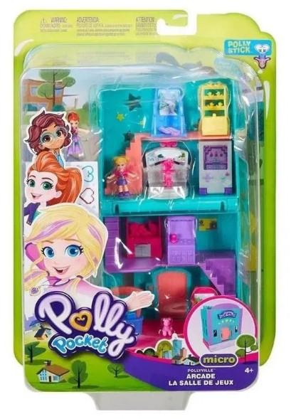 Polly Pocket Pollyville Micro Loja de Fliperama Mattel - ggc29