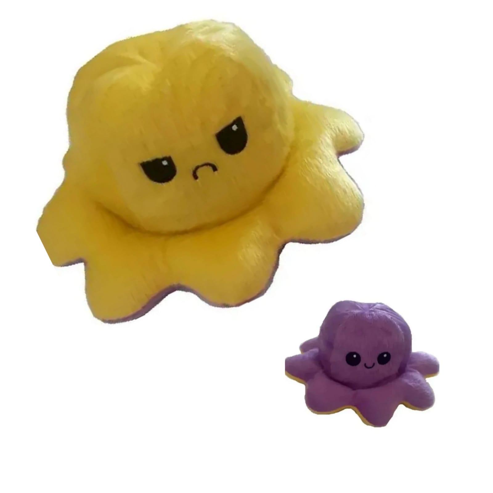 Polvo do Humor pequeno Amarelo e Roxo Mega fofo