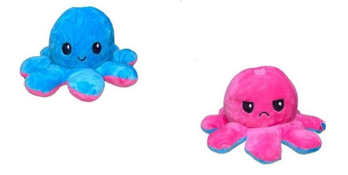 Polvo do Humor Pequeno Rosa Choque e Azul Claro Mega fofo