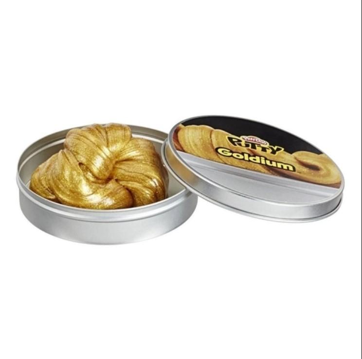 Pote De Slime 90 Gr Play-doh Putty Goldium Dourado E8792