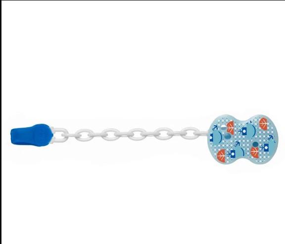 Prendedor De Chupeta Universal Azul submarino Chicco