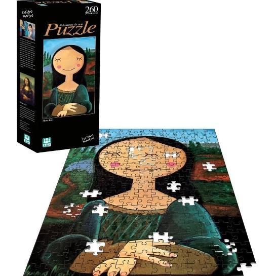 Puzzle Infantil Mona Lisa Releituras De Arte 260 Peças - Nig