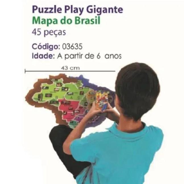 Puzzle Play Gigante Mapa Do Brasil Grow
