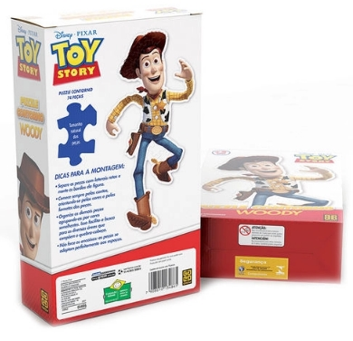 Quebra Cabeça - Puzzle Contorno Woody - Grow