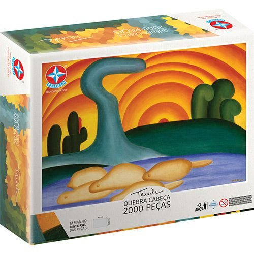 Quebra-Cabeça Tarsila do Amaral 2000 Peças - Estrela