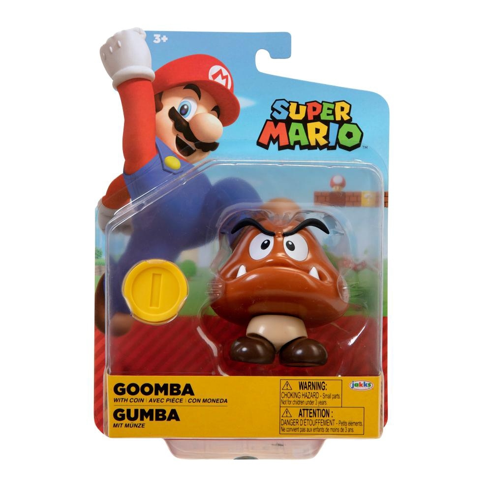 Super Mario Boneco Goomba 4 polegadas colecionável Candide