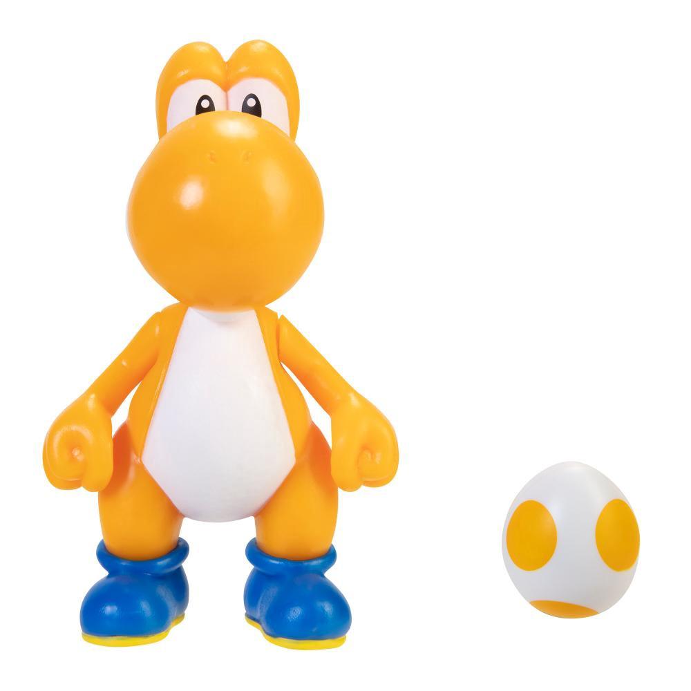 Super Mario Boneco Yoshi Laranja 4 polegadas colecionável Candide