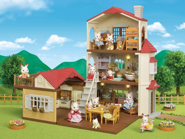 Sylvanian Families Casa Telhado Vermelho com Luzes - Epoch - 5302