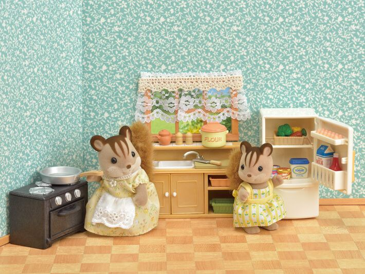 Sylvanian Families Conjunto Cozinha Clássica  - Epoch - 5289