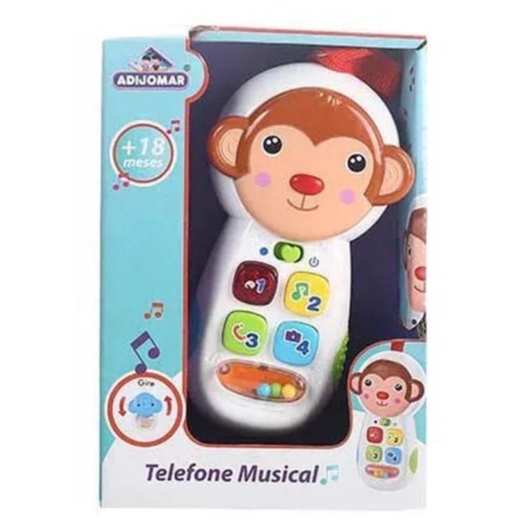 Telefone Celular Musical Macaquinho Baby Som Luz e Espelho