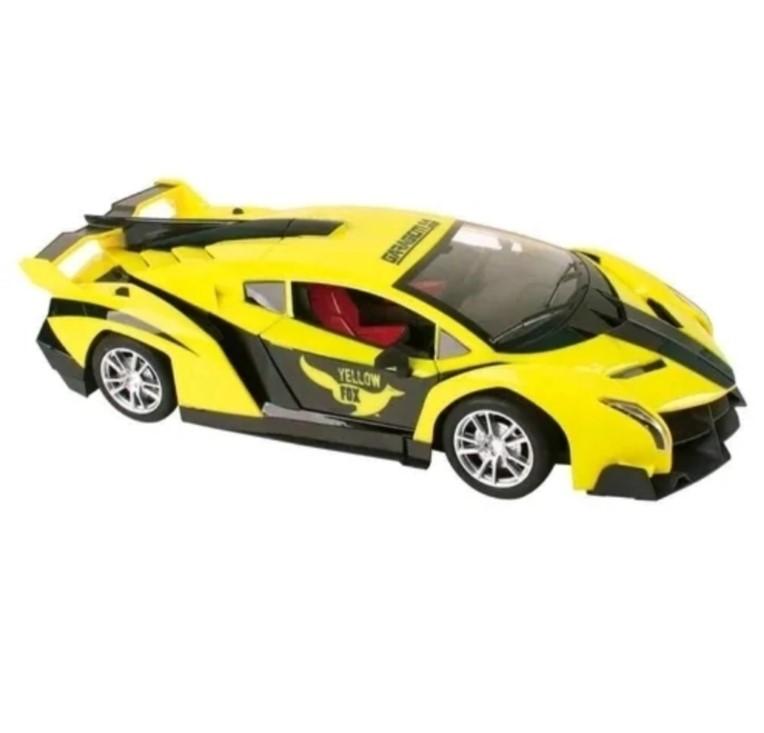 Veículo de Controle Remoto Yellow Fox Amarelo Candide