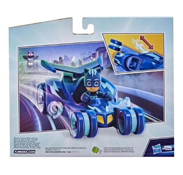 Veículo e Mini Boneco PJ Masks Menino Gato Deluxe Hasbro