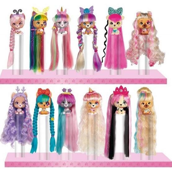 Imc Toys vip Pets Roxo Boneca revelação de cabelo surpresa série 1 Multikids
