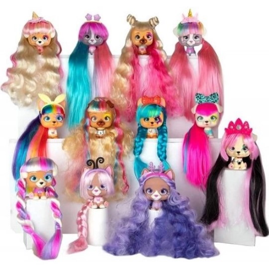 Imc Toys vip Pets Verde Boneca revelação de cabelo surpresa série 1 Multikids