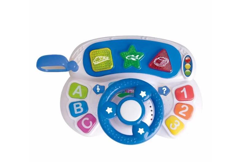 Volante Bibi Baby Sons e Luzes Guta Guti DM Toys DMB5809