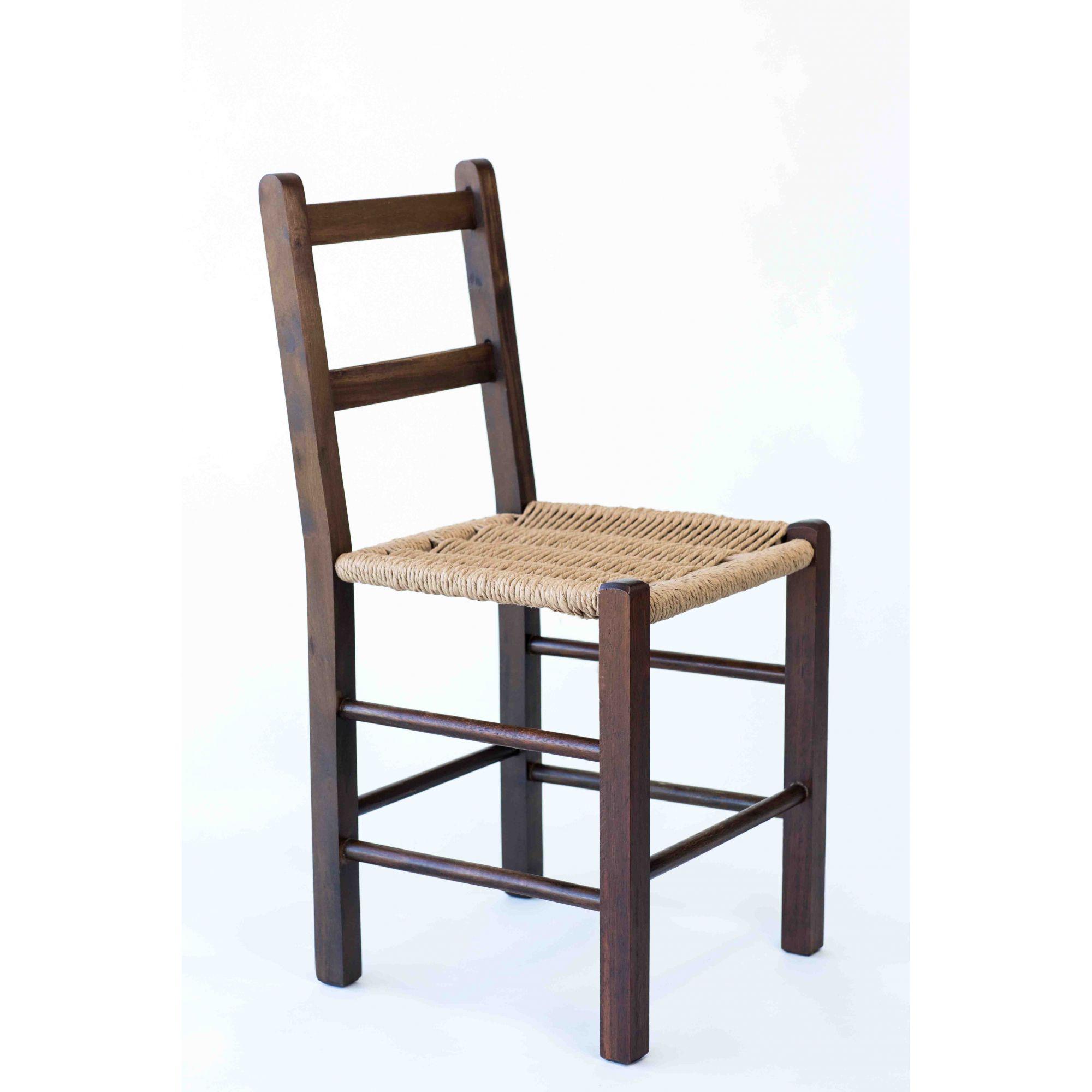 Cadeira com Assento de Palha