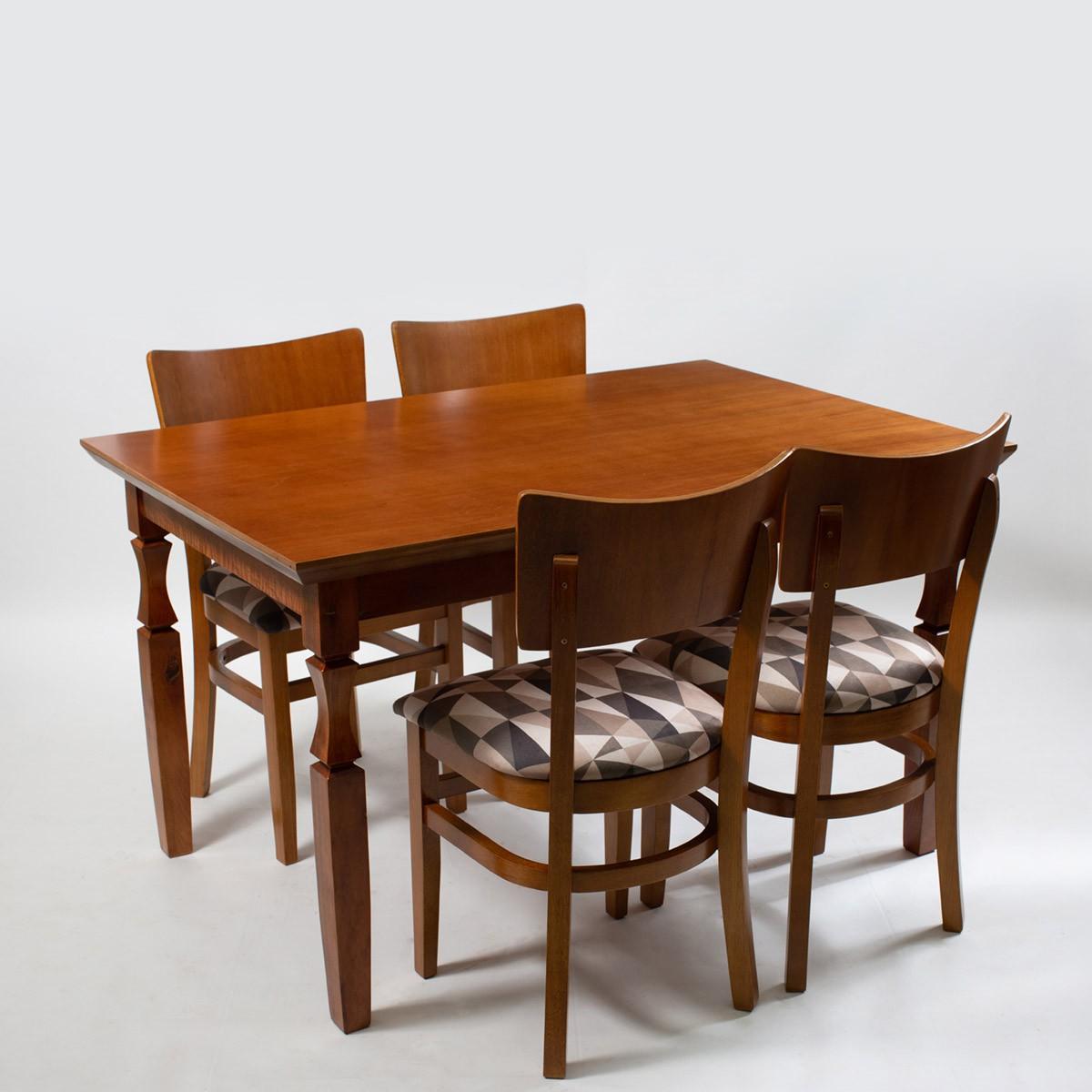 kit Jogo de Mesa Retangular com 4 Cadeiras Grécia