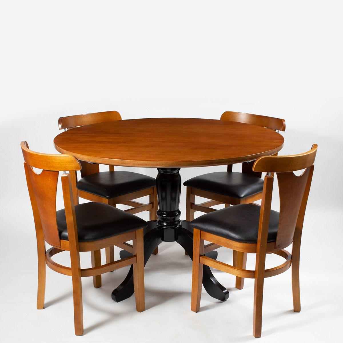 Jogo Mesa Redonda com 4 Cadeiras Baiuca