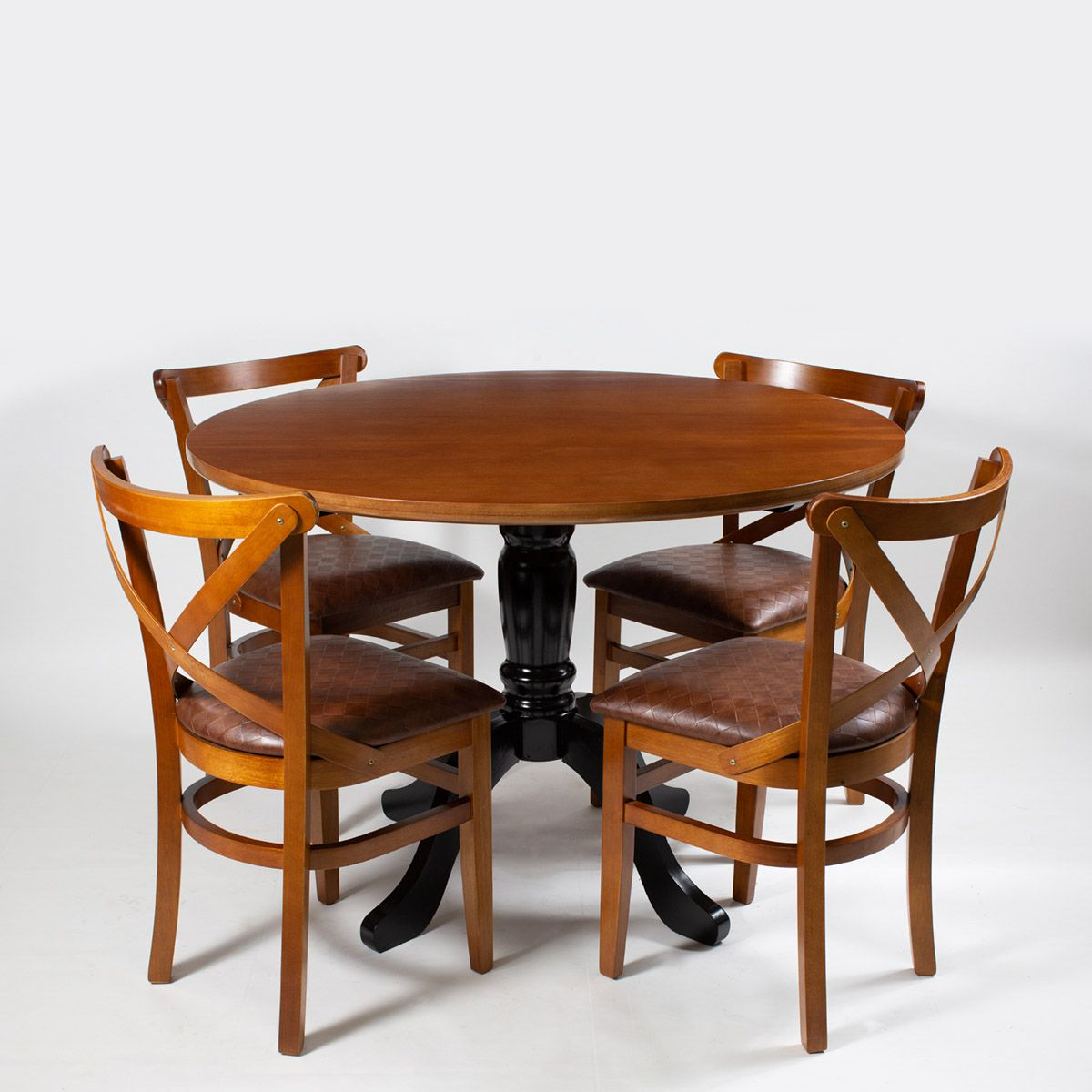 Jogo Mesa Redonda com 4 Cadeiras Paris