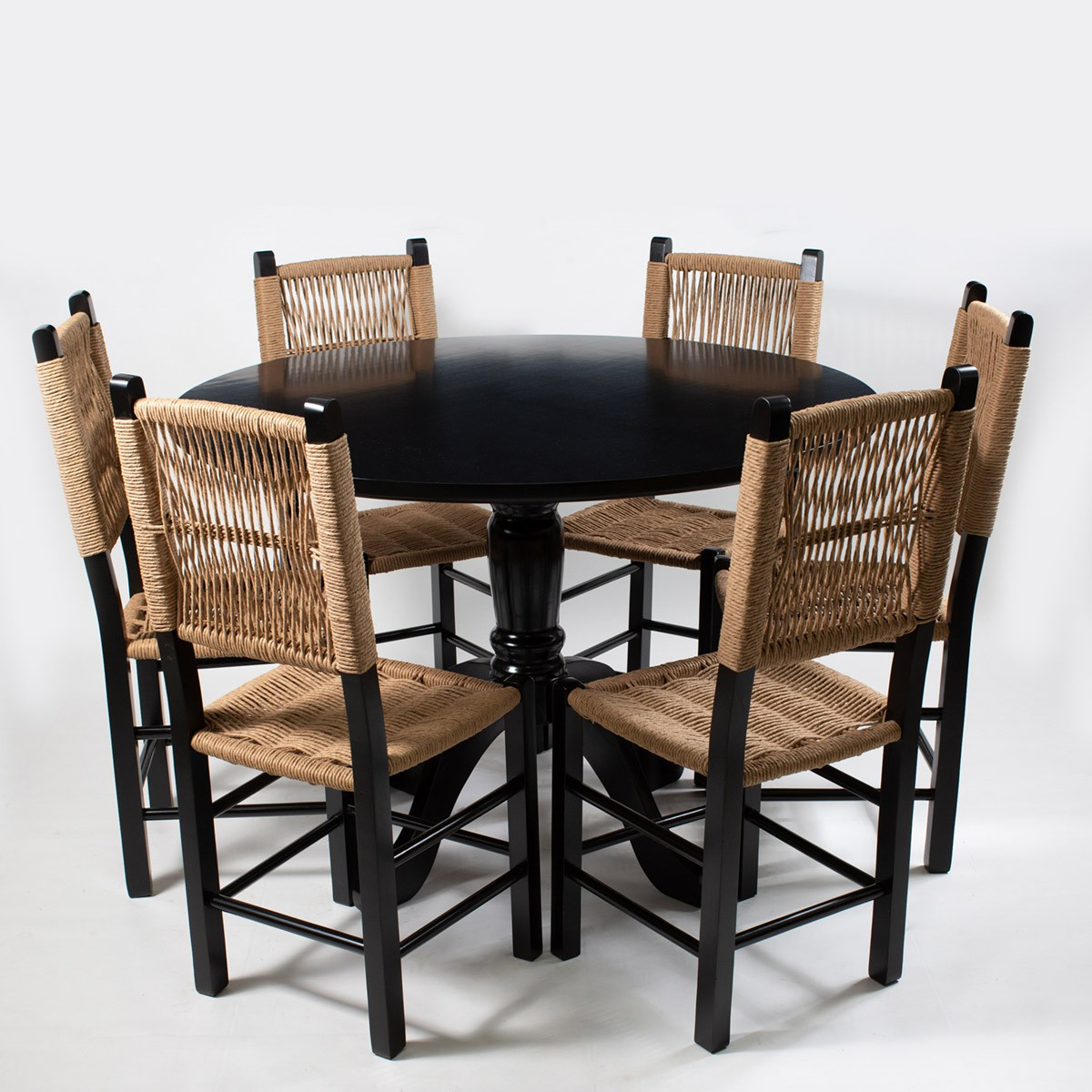 Jogo Mesa redonda com 6 Cadeiras Sertaneja