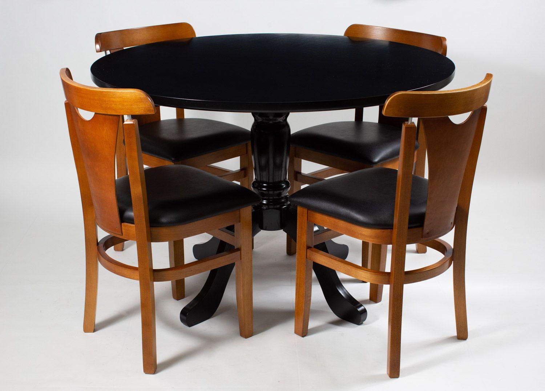 Jogo Mesa Redonta com 4 Cadeiras Baiuca
