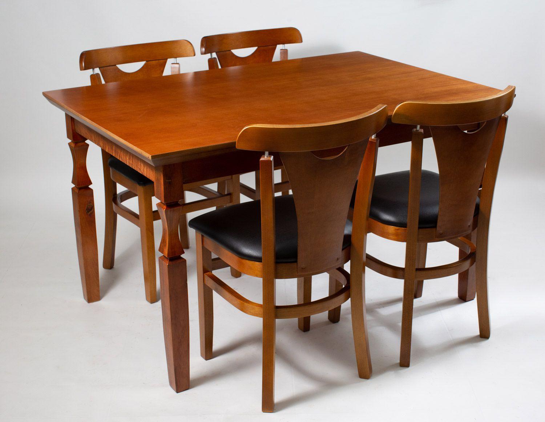 Jogo Mesa Retangular com 4 Cadeiras Baiucas