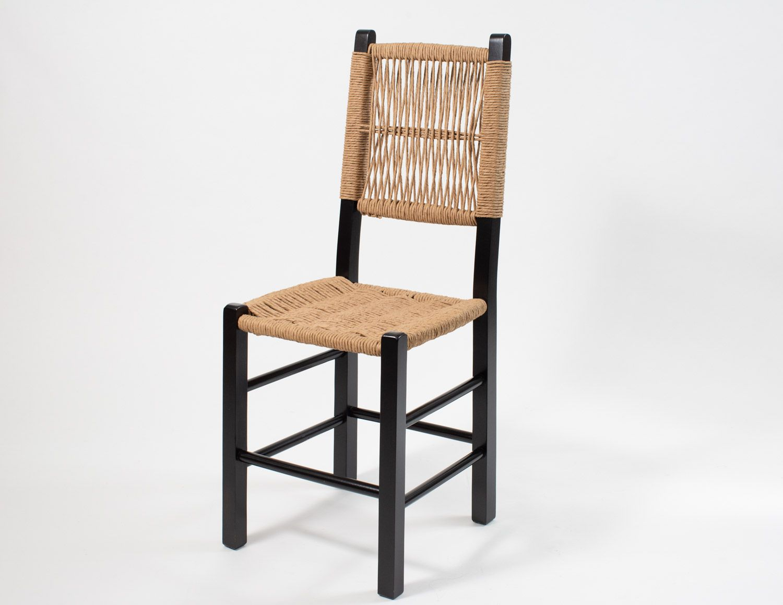 Jogo Mesa Retangular com 4 Cadeiras de Palhinha Moderna