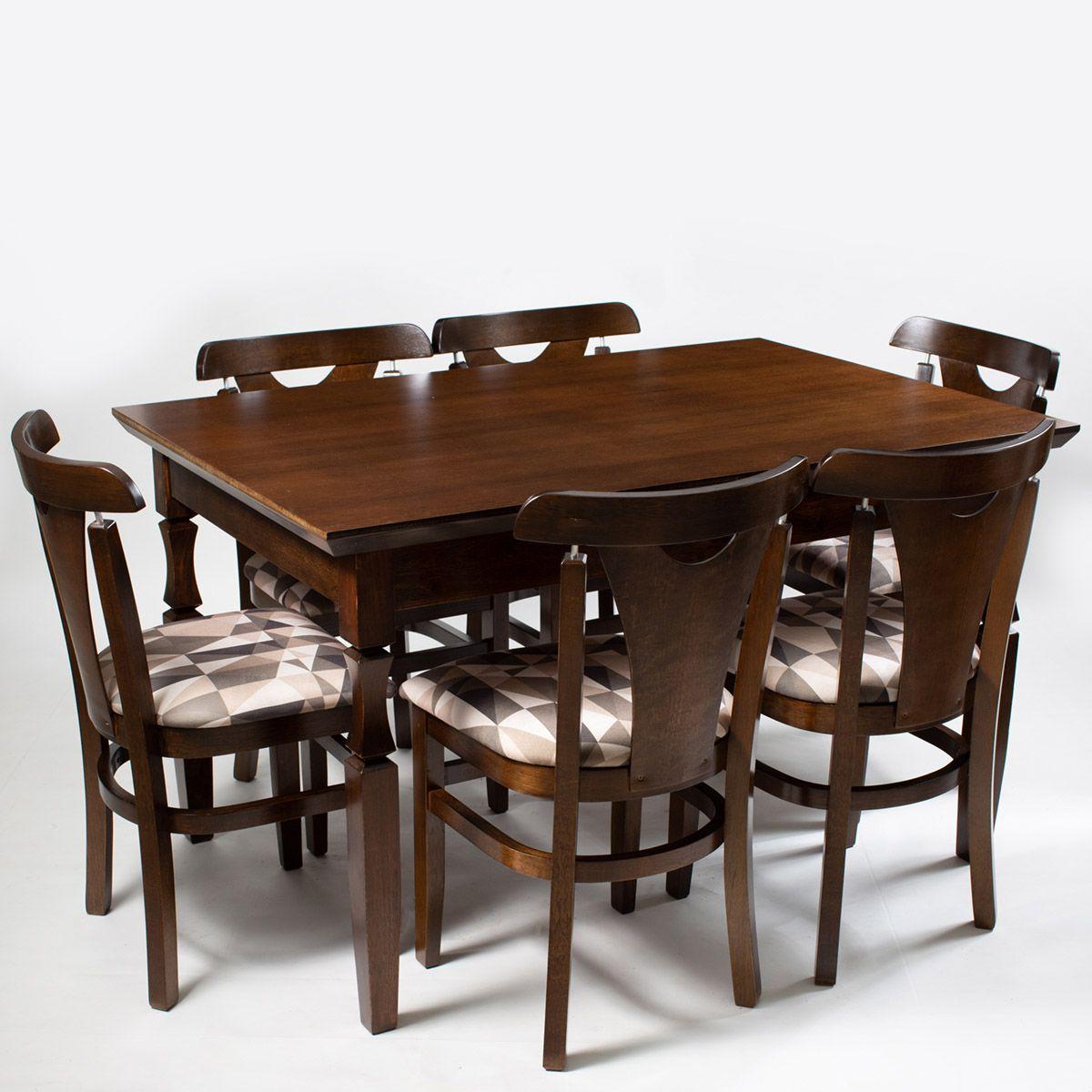 Jogo Mesa Retangular com 6 Cadeiras Eco Leque