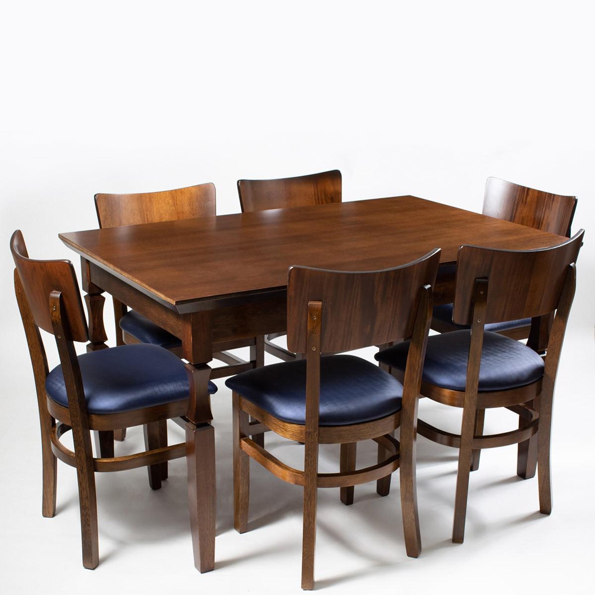 Jogo Mesa Retangular com 6 Cadeiras Grecia