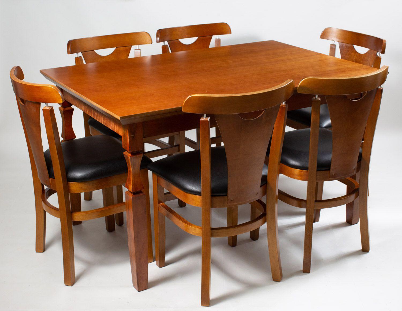 Jogo Mesa Retangular com 6 Cadeiras  para Área de Churrasqueira