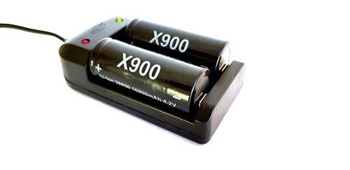 Carregador Duplo + Baterias X900 26650 4.2v Rápido