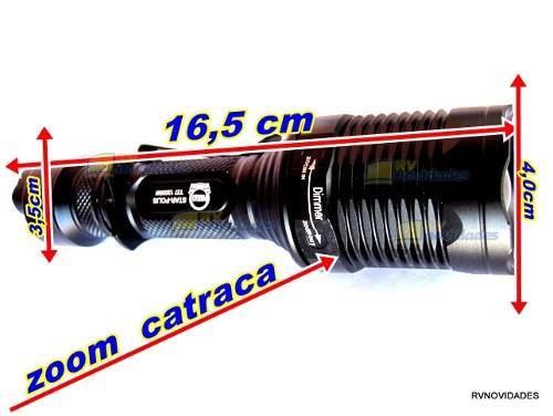 Lanterna Tática T6 Xml + Acionamen Remoto 36000 Lumens 12000