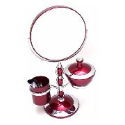 Espelho De Mesa Maquiagem Com Pinceis Jacki Design 5X