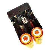 Bateria 26650 8800mah 3.7v JWS Original Mais Carregador Duplo