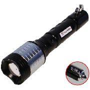 Lanterna Tática Recarregável Led T6 Xml 20000w 56000l