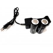 Carregador + 2 Baterias para lanterna Xhp70 58800mAh 4.2v
