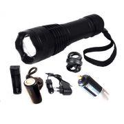 Lanterna Tática Militar Super Led T9 P50 +suporte P/Bike