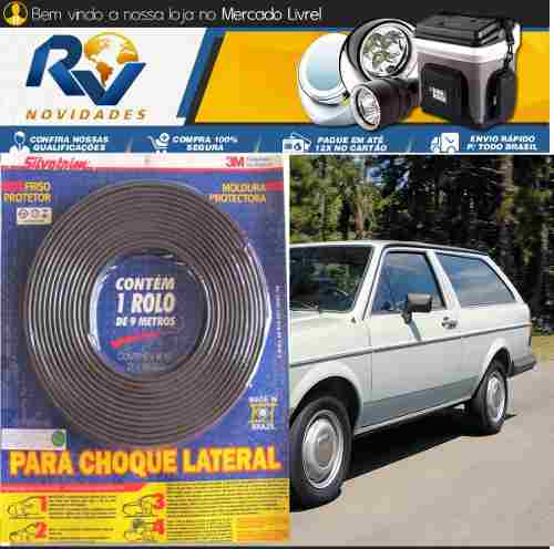 Friso Lateral Gol Bx Saveiro Voyage Passat Corcel