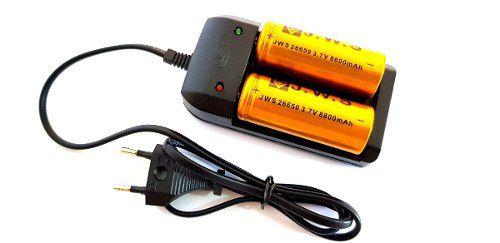 Carregador Mais 2 Bateria 26650 8800mah 3.7v Super